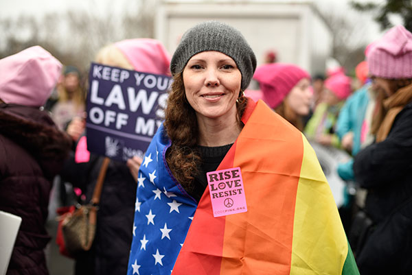 <div class='meta'><div class='origin-logo' data-origin='none'></div><span class='caption-text' data-credit='Sait Serkan Gurbuz/AP Photo'>Nicole Monceaux from New York City, attends the Women's March on Washington on Saturday, Jan. 21, 2017 in Washington.</span></div>
