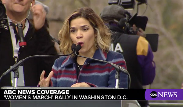 <div class='meta'><div class='origin-logo' data-origin='none'></div><span class='caption-text' data-credit=''>Actress America Ferrera speaks at a rally preceding the Women's March on Washington in Washington, D.C.</span></div>