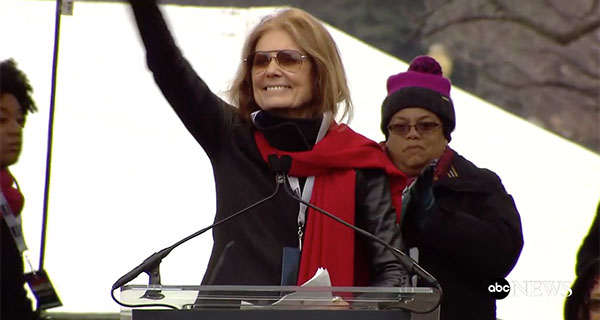 <div class='meta'><div class='origin-logo' data-origin='none'></div><span class='caption-text' data-credit=''>Feminist activist and writer Gloria Steinem waves to the crowd at a rally preceding the Women's March on Washington in Washington, D.C.</span></div>