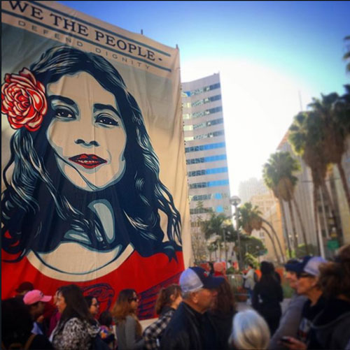 <div class='meta'><div class='origin-logo' data-origin='none'></div><span class='caption-text' data-credit='smaddielope'>Demonstrators created signs and posters for the Women's Marches across Southern California on Saturday, Jan. 21, 2017.</span></div>