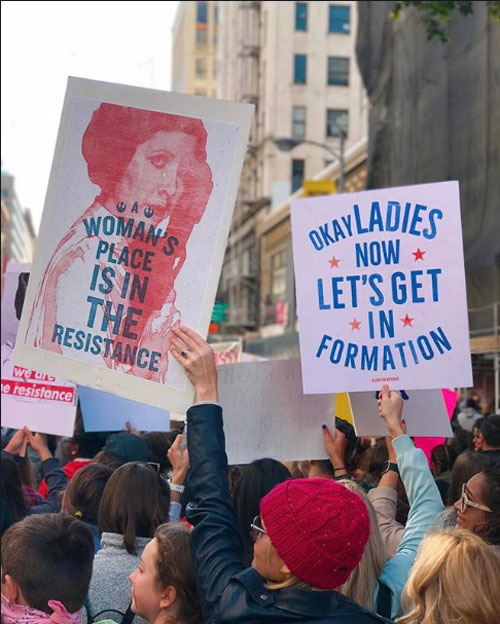 "<div class=""meta image-caption""><div class=""origin-logo origin-image none""><span>none</span></div><span class=""caption-text"">Demonstrators created signs and posters for the Women's Marches across Southern California on Saturday, Jan. 21, 2017. (Angela Gamba Hanks)</span></div>"