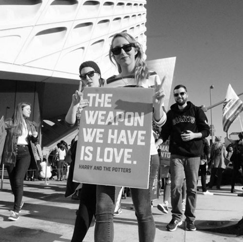 <div class='meta'><div class='origin-logo' data-origin='none'></div><span class='caption-text' data-credit='justentyme626_images'>Demonstrators created signs and posters for the Women's Marches across Southern California on Saturday, Jan. 21, 2017.</span></div>