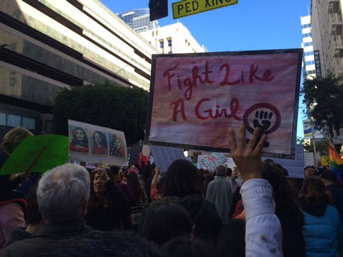 "<div class=""meta image-caption""><div class=""origin-logo origin-image none""><span>none</span></div><span class=""caption-text"">Demonstrators created signs and posters for the Women's Marches across Southern California on Saturday, Jan. 21, 2017.</span></div>"