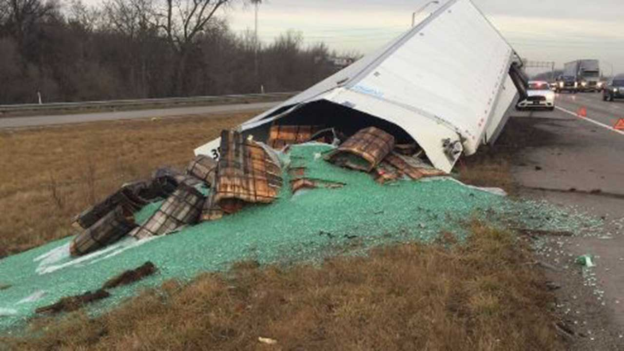 Trucker loses trailer of 38,000 pounds of marbles on Indiana freeway