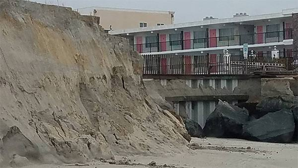 """<div class=""""meta image-caption""""><div class=""""origin-logo origin-image none""""><span>none</span></div><span class=""""caption-text"""">North Wildwood police took photos of beach erosion on Jan. 24.  It happened as a Nor'easter hit the area the day before. (North Wildwood Police)</span></div>"""
