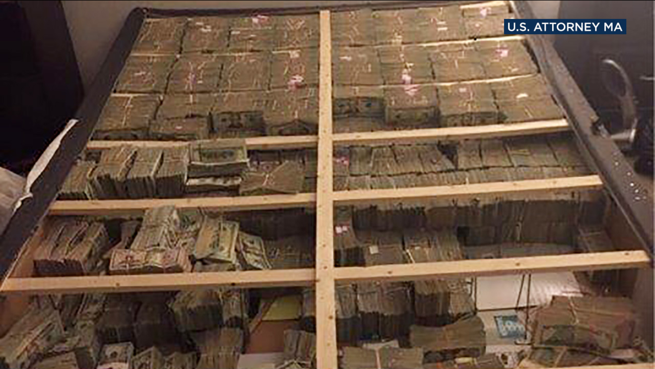 Authorities said 28-year-old Cleber Rene Rizerio Rocha was arrested after $20 million was found in his  box spring in connection with a massive pyramid scheme.