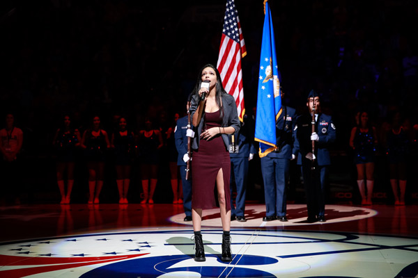 "<div class=""meta image-caption""><div class=""origin-logo origin-image none""><span>none</span></div><span class=""caption-text"">M. Night Shyamalan's daughter, Saleka Shyamalan, singing the National Anthem (Philadelphia 76ers)</span></div>"