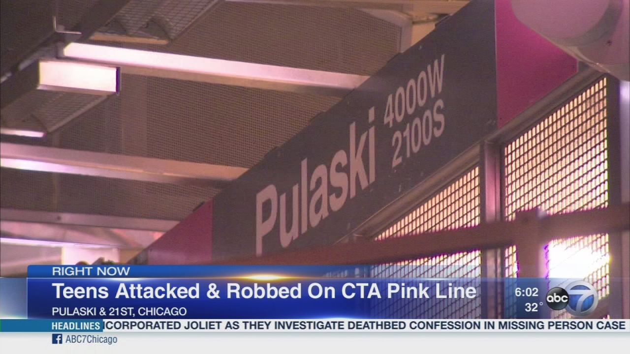 2 High School Students Beaten Robbed On Cta Pink Line