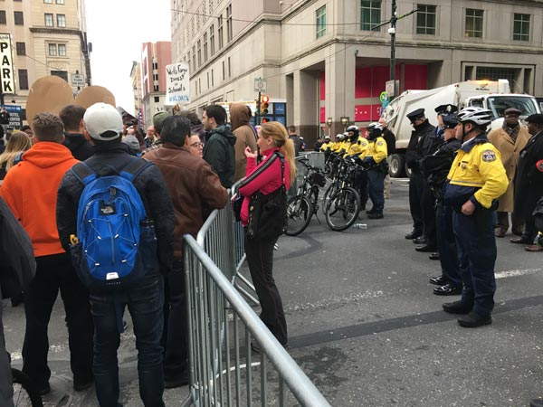 """<div class=""""meta image-caption""""><div class=""""origin-logo origin-image none""""><span>none</span></div><span class=""""caption-text"""">Protesters greeted Donald Trump as he arrived in Philadelphia to address the GOP retreat.</span></div>"""