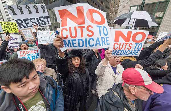 """<div class=""""meta image-caption""""><div class=""""origin-logo origin-image wpvi""""><span>WPVI</span></div><span class=""""caption-text"""">Protesters greeted Donald Trump as he arrived in Philadelphia to address the GOP retreat. (Action News photographer Bruce Neumann)</span></div>"""