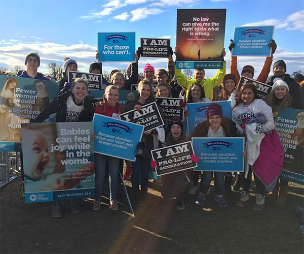 """<div class=""""meta image-caption""""><div class=""""origin-logo origin-image none""""><span>none</span></div><span class=""""caption-text"""">A group from Diocese Of Sioux Falls in South Dakota attends the March for Life in Washington, D.C. on Friday, Jan. 27. (Jon Konz/Instagram)</span></div>"""