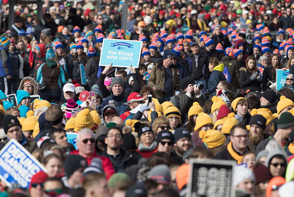 """<div class=""""meta image-caption""""><div class=""""origin-logo origin-image none""""><span>none</span></div><span class=""""caption-text"""">Pro-life supporters gather at the Washington Monument to hear Vice President Mike Pence speak at the March for Life rally on January 27, 2017. (TASOS KATOPODIS/AFP/Getty Images)</span></div>"""