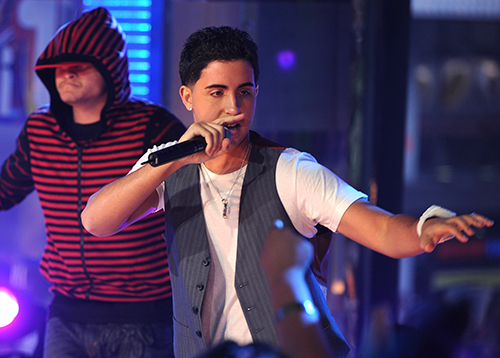 "<div class=""meta image-caption""><div class=""origin-logo origin-image ap""><span>AP</span></div><span class=""caption-text"">You might not recognize him, but Colby O'Donis was a featured artist on Gaga's 2008 breakout hit 'Just Dance.' Might O'Donis return for a throwback performance? (AP Photo/Peter Kramer)</span></div>"