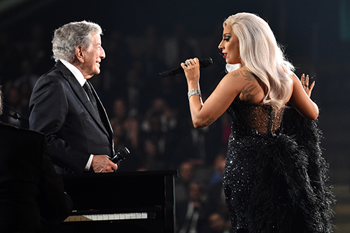 "<div class=""meta image-caption""><div class=""origin-logo origin-image ap""><span>AP</span></div><span class=""caption-text"">In an unexpected departure from her trailblazing pop act, Gaga teamed up with legendary crooner Tony Bennett for a 2014 album of jazz duets. Could the halftime show go jazzy? (Photo by John Shearer/Invision/AP)</span></div>"