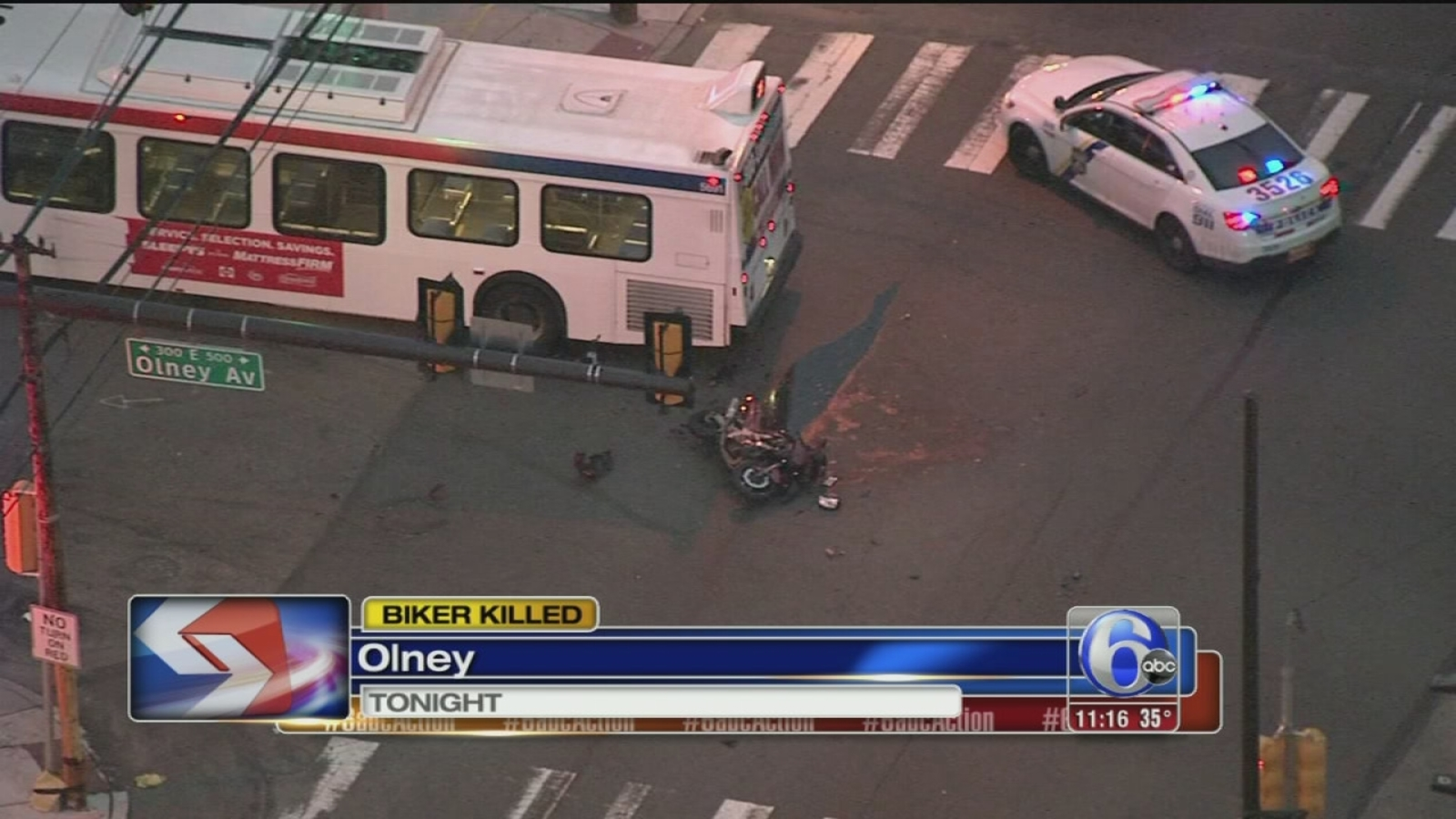 Man Killed After Motorcycle Hits Septa Bus In Olney 6abc Com