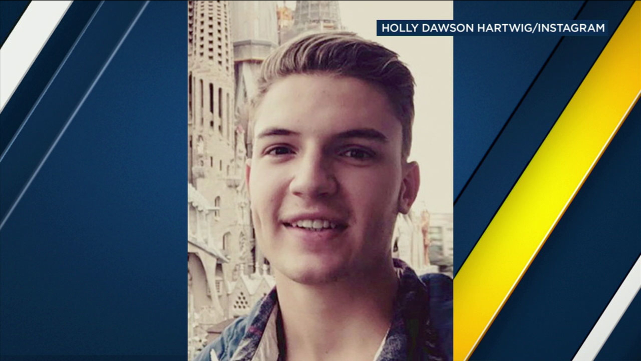 Searchers are looking for Dawson Hartwig, 20, in the area around Lake Arrowhead.