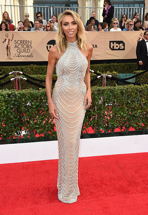"<div class=""meta image-caption""><div class=""origin-logo origin-image none""><span>none</span></div><span class=""caption-text"">Giuliana Rancic arrives at the 23rd annual Screen Actors Guild Awards at the Shrine Auditorium & Expo Hall on Sunday, Jan. 29, 2017, in Los Angeles. (Jordan Strauss/Invision/AP)</span></div>"