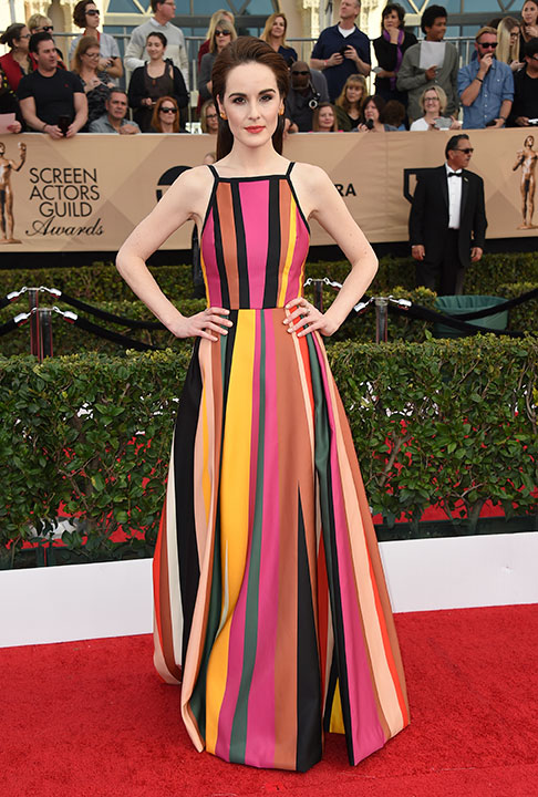 "<div class=""meta image-caption""><div class=""origin-logo origin-image none""><span>none</span></div><span class=""caption-text"">Michelle Dockery arrives at the 23rd annual Screen Actors Guild Awards at the Shrine Auditorium & Expo Hall on Sunday, Jan. 29, 2017, in Los Angeles. (Jordan Strauss/Invision/AP)</span></div>"