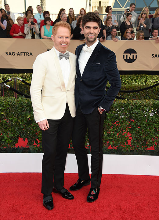 "<div class=""meta image-caption""><div class=""origin-logo origin-image none""><span>none</span></div><span class=""caption-text"">Jesse Tyler Ferguson, left, and Justin Mikita arrive at the 23rd annual Screen Actors Guild Awards at the Shrine Auditorium & Expo Hall on Sunday, Jan. 29, 2017, in Los Angeles. (Jordan Strauss/Invision/AP)</span></div>"