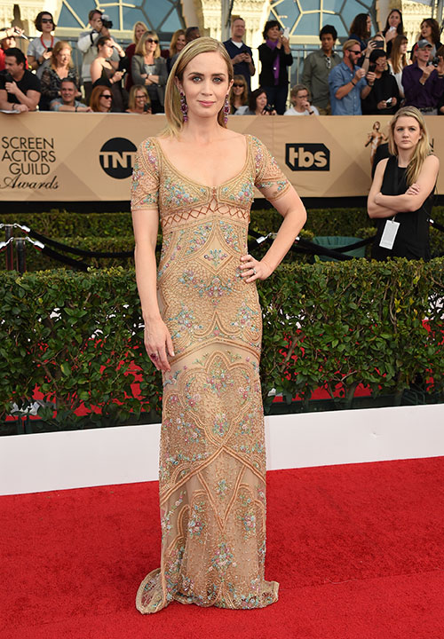"<div class=""meta image-caption""><div class=""origin-logo origin-image none""><span>none</span></div><span class=""caption-text"">Emily Blunt arrives at the 23rd annual Screen Actors Guild Awards at the Shrine Auditorium & Expo Hall on Sunday, Jan. 29, 2017, in Los Angeles. (Jordan Strauss/Invision/AP)</span></div>"