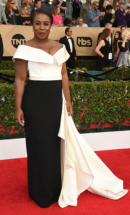 "<div class=""meta image-caption""><div class=""origin-logo origin-image none""><span>none</span></div><span class=""caption-text"">Uzo Aduba arrives at the 23rd annual Screen Actors Guild Awards at the Shrine Auditorium & Expo Hall on Sunday, Jan. 29, 2017, in Los Angeles. (Jordan Strauss/Invision/AP)</span></div>"