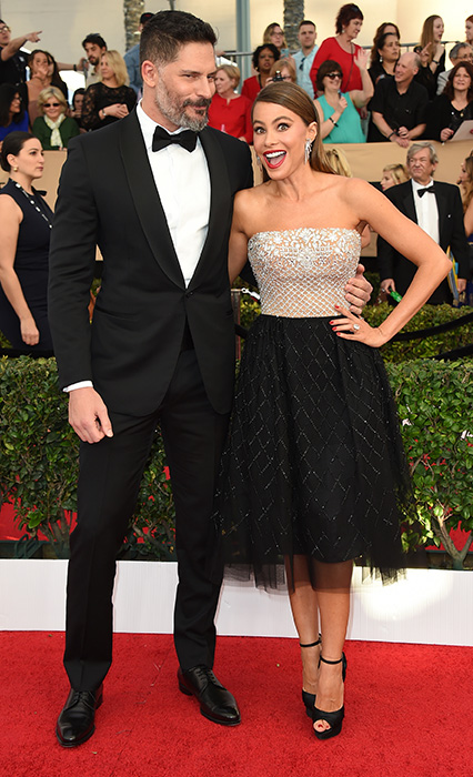 "<div class=""meta image-caption""><div class=""origin-logo origin-image none""><span>none</span></div><span class=""caption-text"">Joe Manganiello, left, and Sofia Vergara arrive at the 23rd annual Screen Actors Guild Awards at the Shrine Auditorium & Expo Hall on Sunday, Jan. 29, 2017, in Los Angeles. (Jordan Strauss/Invision/AP)</span></div>"