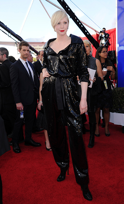 "<div class=""meta image-caption""><div class=""origin-logo origin-image none""><span>none</span></div><span class=""caption-text"">Gwendoline Christie arrives at the 23rd annual Screen Actors Guild Awards at the Shrine Auditorium & Expo Hall on Sunday, Jan. 29, 2017, in Los Angeles. (Richard Shotwell/Invision/AP)</span></div>"