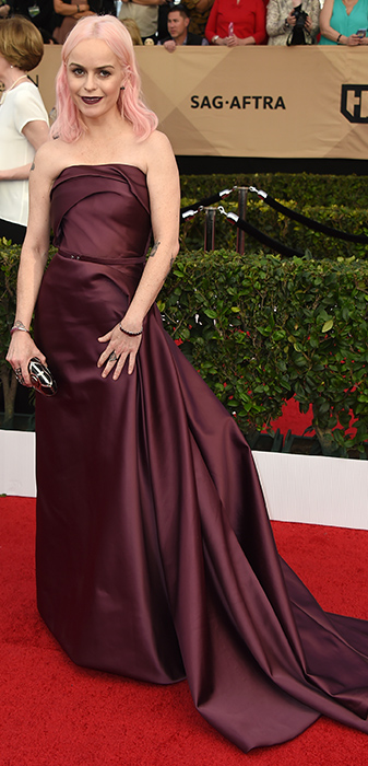 "<div class=""meta image-caption""><div class=""origin-logo origin-image none""><span>none</span></div><span class=""caption-text"">Taryn Manning arrives at the 23rd annual Screen Actors Guild Awards at the Shrine Auditorium & Expo Hall on Sunday, Jan. 29, 2017, in Los Angeles. (Richard Shotwell/Invision/AP)</span></div>"
