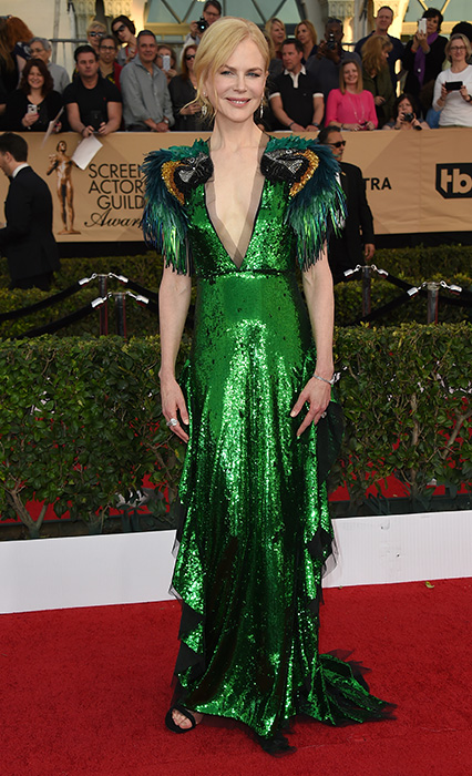 "<div class=""meta image-caption""><div class=""origin-logo origin-image ap""><span>AP</span></div><span class=""caption-text"">Nicole Kidman arrives at the 23rd annual Screen Actors Guild Awards at the Shrine Auditorium & Expo Hall on Sunday, Jan. 29, 2017, in Los Angeles. (Jordan Strauss/Invision/AP)</span></div>"