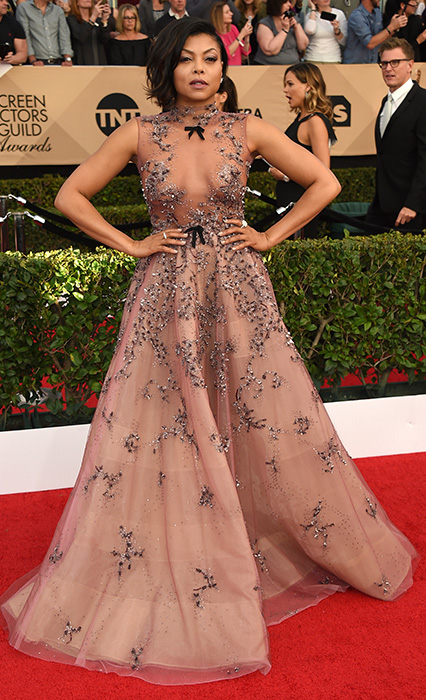 "<div class=""meta image-caption""><div class=""origin-logo origin-image ap""><span>AP</span></div><span class=""caption-text"">Taraji P. Henson arrives at the 23rd annual Screen Actors Guild Awards at the Shrine Auditorium & Expo Hall on Sunday, Jan. 29, 2017, in Los Angeles. (Jordan Strauss/Invision/AP)</span></div>"
