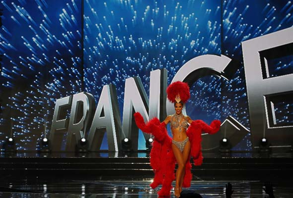 """<div class=""""meta image-caption""""><div class=""""origin-logo origin-image ap""""><span>AP</span></div><span class=""""caption-text"""">Miss Universe contestant Iris Mittenaere of France parades during the preliminary competition in the Miss Universe beauty pageant. (AP Photo/Bullit Marquez) (AP)</span></div>"""
