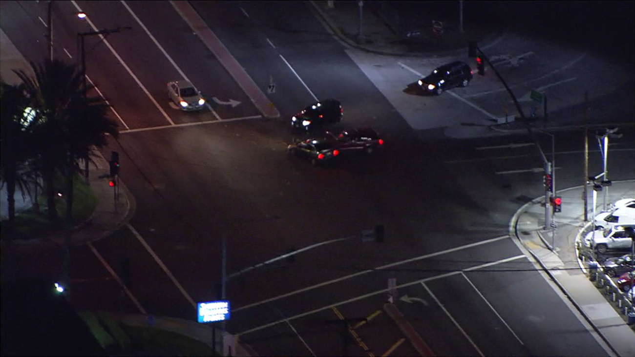 A chase ended in the Commerce area when the suspect collided into another car at an intersection.