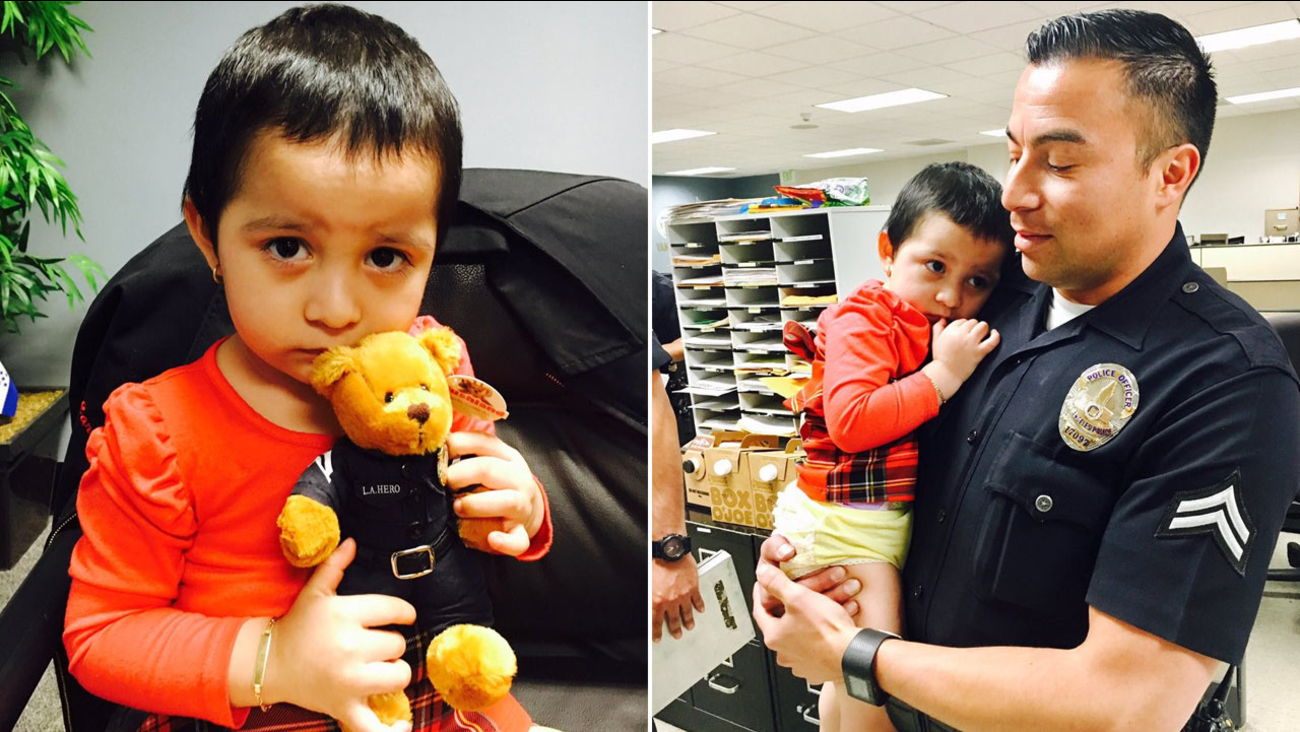 A toddler was found wandering in Van Nuys on Tuesday, Jan. 31, 2017.