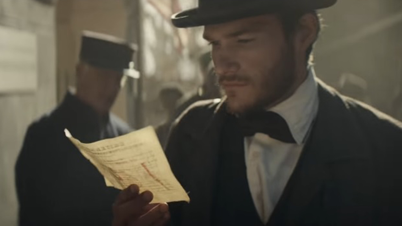 Budweiser founder Adolphus Busch is depicted in the company's 2017 Super Bowl ad as he travels from Germany to St. Louis.