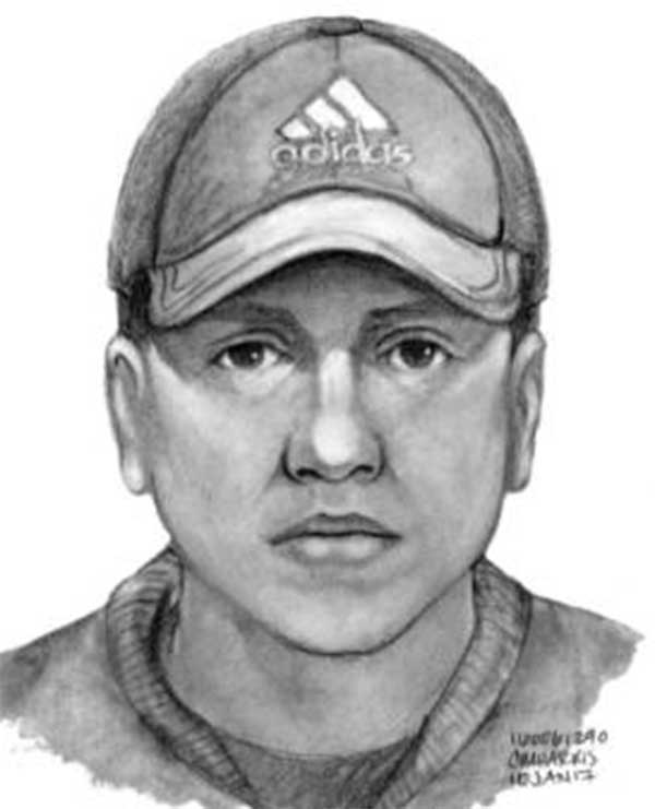 Torrance police released this sketch of the robbery suspect.