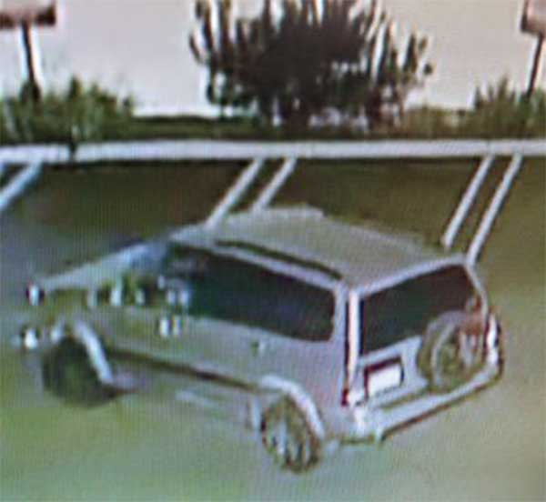 Torrance police released this image of a car possibly linked to the robbery suspect.