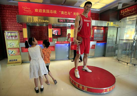 "<div class=""meta image-caption""><div class=""origin-logo origin-image ktrk""><span>KTRK</span></div><span class=""caption-text"">Young visitor walks past a wax figure of Houston Rockets' Yao Ming at Madame Tussauds Wax Museum Wednesday July 1, 2009 in Shanghai, China. (AP Photo/Eugene Hoshiko) (ASSOCIATED PRESS)</span></div>"