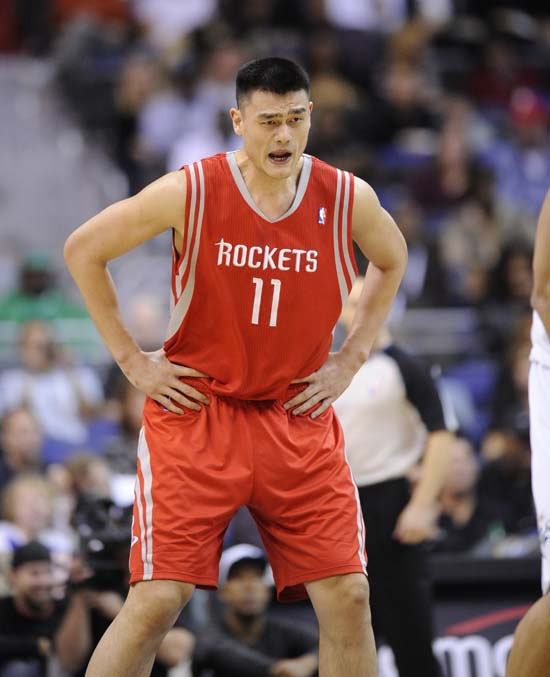 "<div class=""meta image-caption""><div class=""origin-logo origin-image ktrk""><span>KTRK</span></div><span class=""caption-text"">Houston Rockets center Yao Ming, of China, seen during an NBA basketball game against the Washington Wizards, Wednesday, Nov. 10, 2010, in Washington. (AP Photo/Nick Wass) (AP)</span></div>"