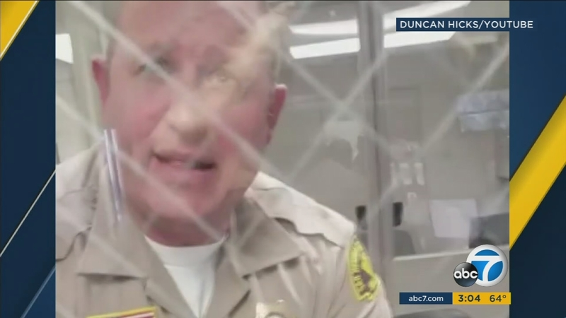 VIDEO: SB deputy threatens man trying to file report