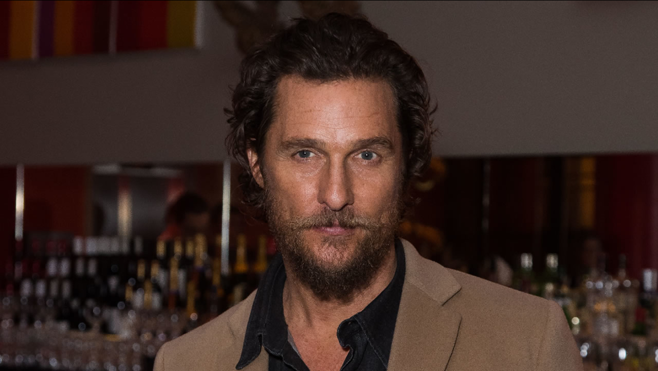 US actor Matthew McConaughey poses for photographers upon arrival at the screening of the film 'Gold', in London, Friday, Jan. 20, 2017.