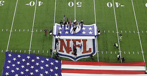 """<div class=""""meta image-caption""""><div class=""""origin-logo origin-image ap""""><span>AP</span></div><span class=""""caption-text"""">Singer Luke Bryan sings the national anthem before the NFL Super Bowl 51 football game between the Atlanta Falcons and the New England Patriots Sunday, Feb. 5, 2017, in Houston. (AP Photo/Morry Gash)</span></div>"""