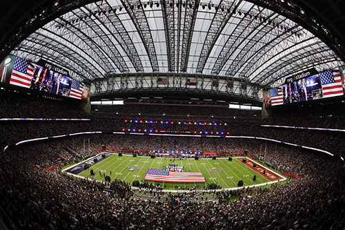 """<div class=""""meta image-caption""""><div class=""""origin-logo origin-image ap""""><span>AP</span></div><span class=""""caption-text"""">9Country music artist Luke Bryan sings the national anthem before the NFL Super Bowl 51 football game between the New England Patriots and the Atlanta Falcons. (AP Photo/Charlie Riedel)</span></div>"""
