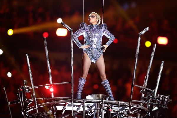 <div class='meta'><div class='origin-logo' data-origin='none'></div><span class='caption-text' data-credit='Darron Cummings/AP'>Lady Gaga performs during the halftime show of the NFL Super Bowl 51 football game between the New England Patriots and the Atlanta Falcons Sunday, Feb. 5, 2017, in Houston.</span></div>