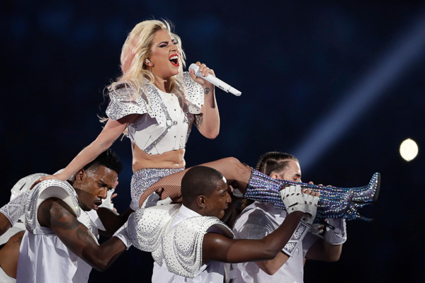 <div class='meta'><div class='origin-logo' data-origin='none'></div><span class='caption-text' data-credit='Darron Cummings/AP Photo'>Singer Lady Gaga performs during the halftime show of the NFL Super Bowl 51 football game between the New England Patriots and the Atlanta Falcons, Sunday, Feb. 5, 2017, in Houston</span></div>