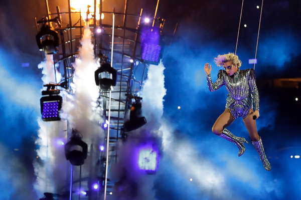 "<div class=""meta image-caption""><div class=""origin-logo origin-image none""><span>none</span></div><span class=""caption-text"">Singer Lady Gaga performs during the halftime show of the NFL Super Bowl 51 football game between the New England Patriots and the Atlanta Falcons, Sunday, Feb. 5, 2017, in Houston (Patrick Semansky/AP)</span></div>"