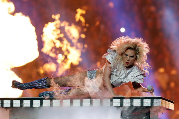"<div class=""meta image-caption""><div class=""origin-logo origin-image none""><span>none</span></div><span class=""caption-text"">Singer Lady Gaga performs during the halftime show of the NFL Super Bowl 51 football game between the New England Patriots and the Atlanta Falcons, Sunday, Feb. 5, 2017, in Houston (Matt Slocum/AP)</span></div>"