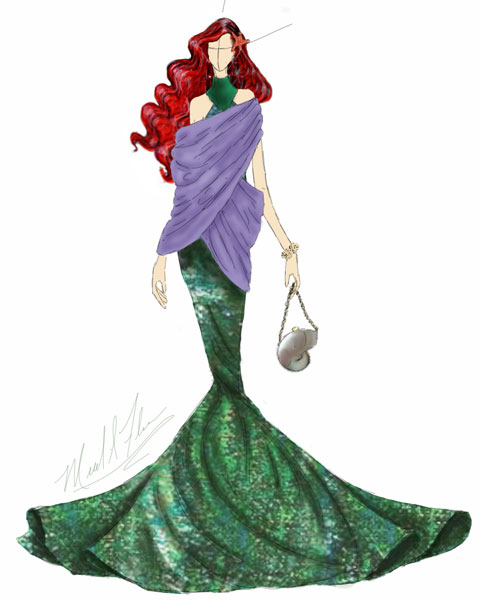 <div class='meta'><div class='origin-logo' data-origin='none'></div><span class='caption-text' data-credit='Michael Anthony Designs'>Inspired by Ariel from Disney's 'The Little Mermaid'</span></div>