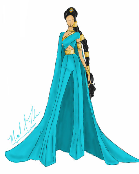 <div class='meta'><div class='origin-logo' data-origin='none'></div><span class='caption-text' data-credit='Michael Anthony Designs'>Inspired by Jasmine from Disney's 'Aladdin'</span></div>