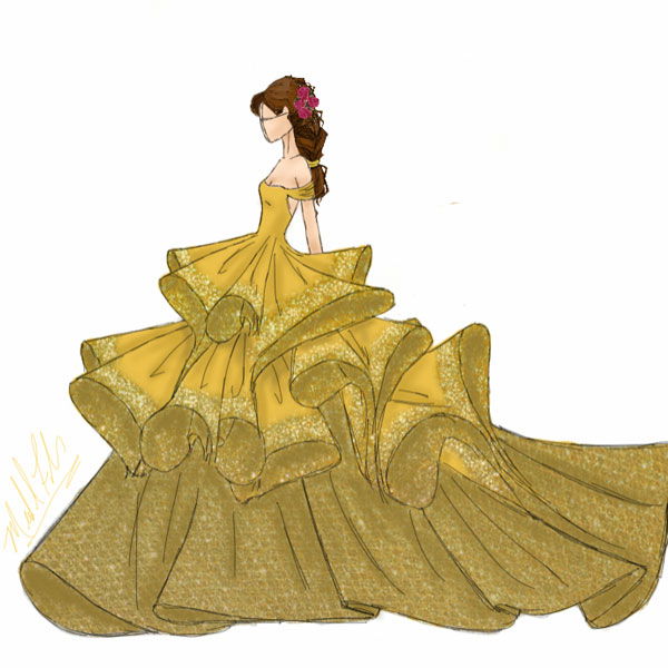 <div class='meta'><div class='origin-logo' data-origin='none'></div><span class='caption-text' data-credit='Michael Anthony Designs'>Inspired by Belle from Disney's 'Beauty and the Beast'</span></div>