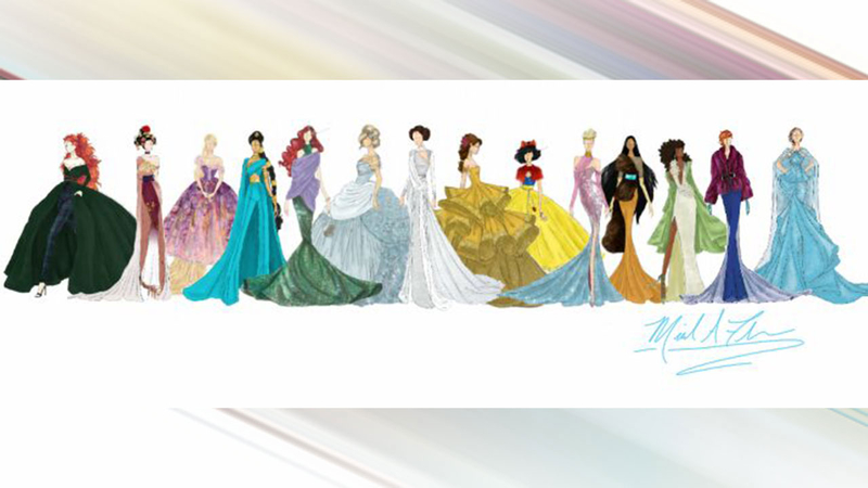 Designer Unveils Sketches For New Disney Princess Inspired Gown